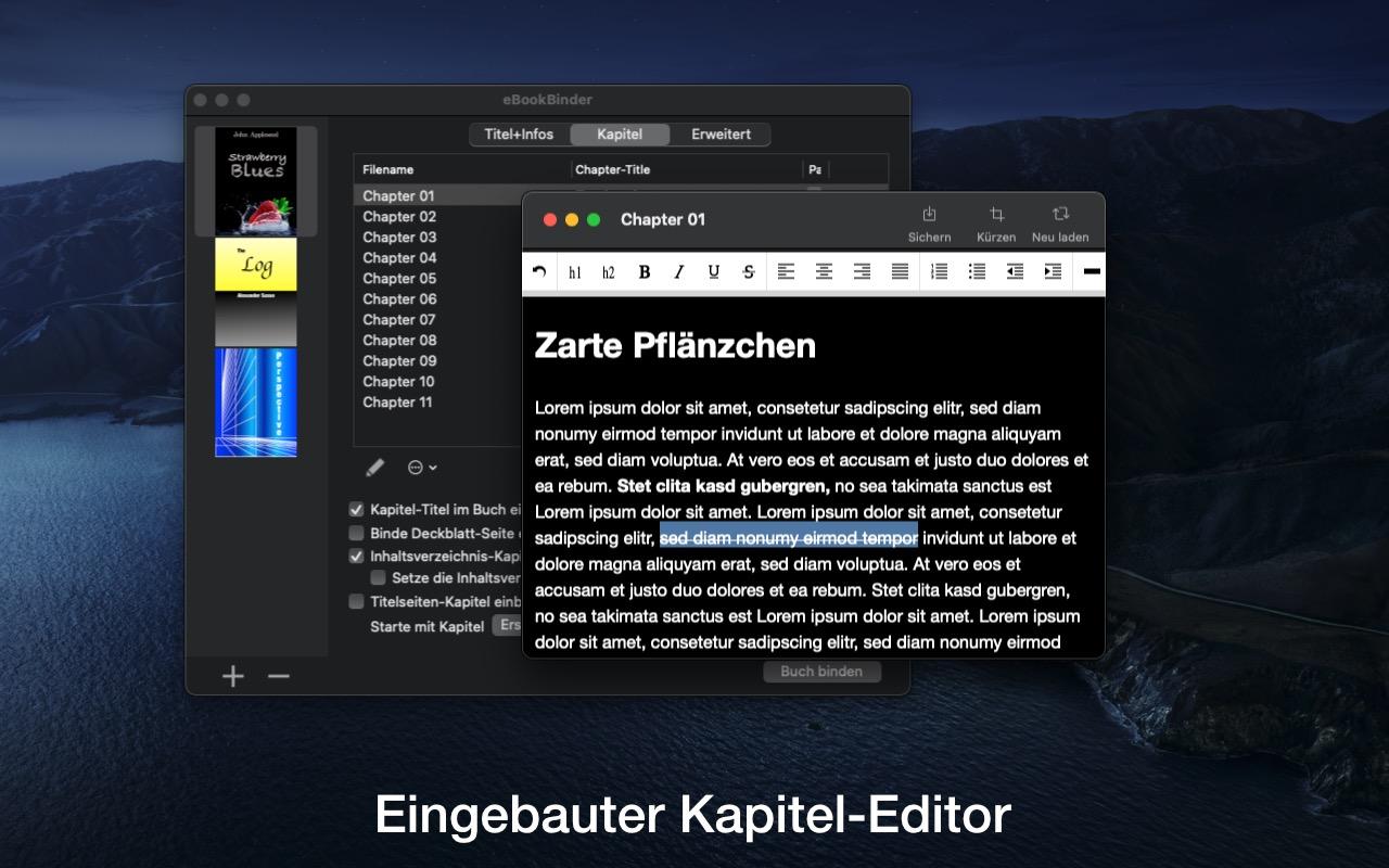 eBookBinder Mac 破解版 电子书阅读器